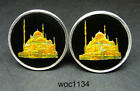 Egypt enamelled coin cufflinks Mohammad Ali Mosque