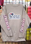 New England PATRIOTS: Sports Gray, LS Long Sleeve Tee, Sizes M through 5XL