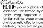 No Place Like Home Definition Vinyl Wall Decal Sticker Letters Words Lettering $13.71 USD on eBay