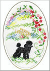 Poodle Rainbow Bridge Card Embroidered by Dogmania