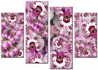 NEW LARGE MODERN CANVAS WALL ART ABSTRACT PICTURE  PRINTS  ART ORCHID PINK