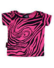 Darkside Clothing Pink Zebra Animal Print Pink Printed Glam Baby Toddler Tshirt