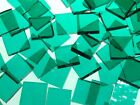 TEAL CATHEDRAL ROUGH ROLLED handcut stained glass mosaic tiles #226