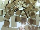 BRONZE ROUGH ROLLED handcut stained glass mosaic tiles #247