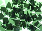 OLIVE GREEN ROUGH ROLLED handcut stained glass mosaic tiles #277