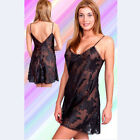 Plus Size Lingerie Sizes 1X  2X  3X 4X 5X or 6X Black Chiffon Chemise   6002X