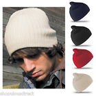 Double Knit Knitted Cotton Beanie Ski Hat Woolly Winter Warm Skiing New