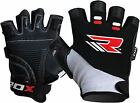 RDX Gel Weight Lifting Body Building Gloves Gym Workout Straps Fitness Leather B
