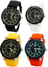 Prince London NY Pilot style watch with date feature, coloured rubber strap