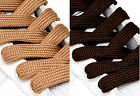 FAT WIDE FLAT BROWN SHOE LACES SHOELACES - 11mm wide - 3 LENGTHS - 2 SHADES