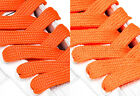 FAT WIDE FLAT ORANGE SHOE LACES SHOELACES - 13mm wide - 3 LENGTHS - 2 SHADES