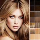 Deluxe Clip In Remy Human Hair Extensions Full Head Double Wefted Any Colour UK