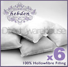 "Pack of 6 Hollow Fibre Cushion Pads - sizes from 12"" to 20"""