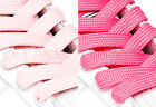 FAT WIDE FLAT PINK SHOE LACES SHOELACES - 11mm wide - 3 LENGTHS - 2 SHADES