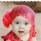 1Pc Cute Flower Headband Baby Girl Elastic Hairband Hair Accessories 3 Color HOT