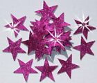 FABRIC GLITTER 25mm STAR IRON-ON CRAFT embellishment TSHIRT TRANSFER PATCH