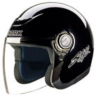 Shark S400 Reflex Open Face Scooter Helmet Black XS Only