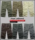 NEW MENS FOXJEANS KNEE-LENGTH CARGO SHORTS-6 Colours