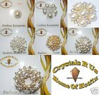 PEARL bouquet FASHION BROOCH PIN CRYSTAL faux diamond bead BLING Wedding bridal