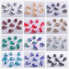 50pcs Faceted Glass Crystal Charms Findings Teardrop Spacer Loose Beads 10x15mm