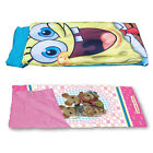 Kids 165cm Sleeping Bag w/ Pillow & Carry Bag - Choose from Assorted Characters