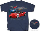 Corvette T-shirt-America Still Builds Rocket Ships Dark Blue
