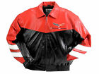 Corvette C6 Grand Sport Leather Inlaid Bomber Red and Black