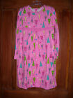J Khaki Pink Multicolor Christmas Tree Cotton Knit Dress Size 4 6 New With Tag