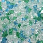 "Cotton Candy 1/4"" 1-120 lbs Fireglass Fire Glass Fire Pit Fireplace Crystals Log"