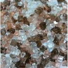 "Grill Salmon 1/4"" 1-120 lbs Fireglass Fire Glass Fire Pit Fireplace Crystals Log"