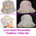 Kid Child Girl Toddler Bucket  Cloche Bell Sun Hat Sunhat Cap Cotton REVERSIBLE
