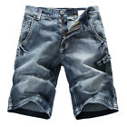 NEW MENS FOXJEANS BLUE DENIM MEN'S JEANS SHORTS SIZE 30-44