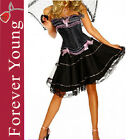Burlesque Moulin Rouge Fancy Dress Can Can Girl Outfit Costume  8 10 12 14 16 18