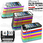 BUMPER RIM CASE SILICONE COVER HOLDER FOR APPLE IPHONE 5 FREE SCREEN PROTECTOR
