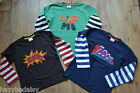 Mini Boden boys cotton long sleeve applique top t-shirt age 2-14 boing zoom bang