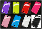 TPU Silicone phone case Soft 8LOT color cover For Samsung Galaxy Note II 2 N7100