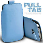 LEATHER PULL TAB SKIN CASE COVER POUCH  FITS VARIOUS ZTE PHONES