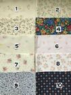 """Small Pattern Material, Floral Designs, Cotton, Fabric, Dolls House 12"""" x 12"""""""