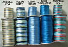 10 Metres X 1mm BUGTAIL CORD Satin Nylon - 'BLUE NOTES' IN 5 COLOUR VARIATIONS