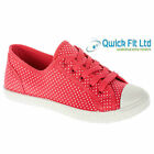 GIRLS KIDS FLAT PUMPS SCHOOL SHOES CANVAS TRAINERS WOMENS CASUAL BOOTS SIZE 13-5