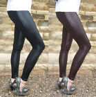 EXTRA LONG Length Leggings Fabric Panel Leggings SIZES 6 - 18 Wet Look & Viscose