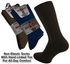 MENS SOFT TOP  GENTLE ELASTIC SOCKS PACK OF 3 SIZE 6-11 ** FREE P&P **