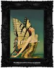 Art Deco Art Nouveau MONARCH BUTTERFLY WOMAN at TWILIGHT Glam Vintage ART PRINT