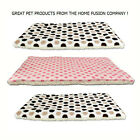 Sheepskin Luxury Dog Pet Mat Fleece Cushion Large Medium Pink Brown Black Spots