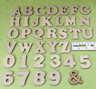 MDF 40mm Craft Letters - Wooden Alphabet Letters - Set of wood letters shapes