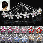 Lot Rhinestone Crystal Wedding Bridal Party Star Flower Pattern Hair Pin Clips