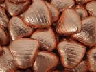 COPPER FOIL CHOCOLATE LOVE HEARTS WEDDING FAVOURS WRAPPED