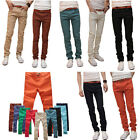 Mens Stretchy Cotton Candy Casual Skinny Jeans Pencil Pants Trousers 10Color
