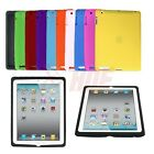 Soft Silicone Rubber Skin Cover for Apple iPad 2 3 4 Gen Gel Case Multi Color