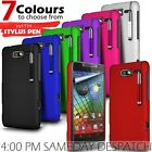 Hard Back Skin Case Cover, Film & Retractable Pen For Various Mobile Phones